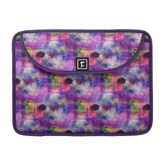 Design green, purple texture watercolor sleeve for MacBooks