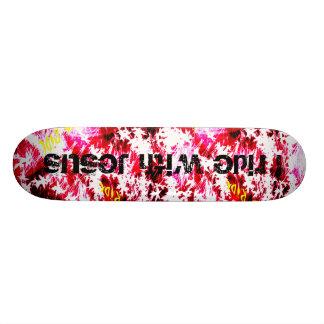 design, I ride with Jesus Skate Boards