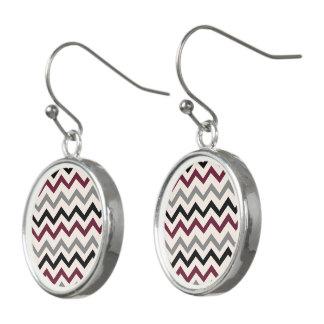 design in zig zag earrings
