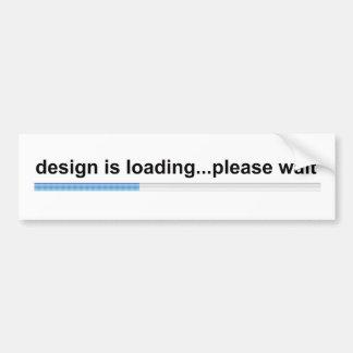 design is loading bumper sticker