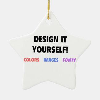 Design It Yourself On Ceramic Star Decoration