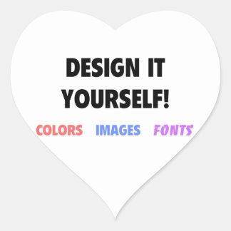 Design It Yourself On Heart Sticker