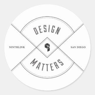 design matters classic round sticker