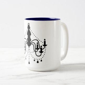 Design mug with black Chandelier