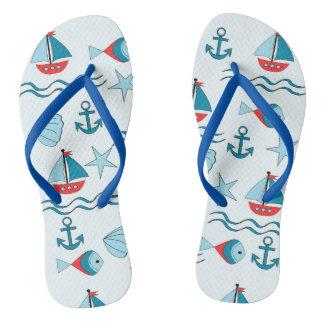 design nautical flip flops