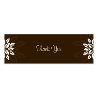 Design No.3 Thank you Gift Tag - CHOCOLATE Business Cards