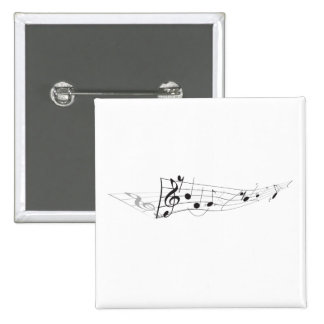 Design Of A Twisting Musical Score 15 Cm Square Badge