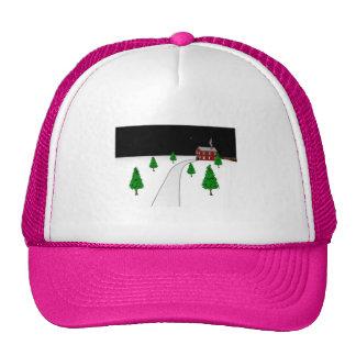 Design of a Winter Christmas Snow Scene Hat