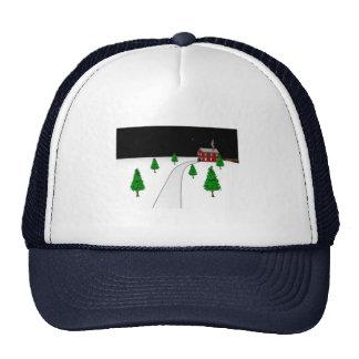 Design of a Winter Christmas Snow Scene Trucker Hat