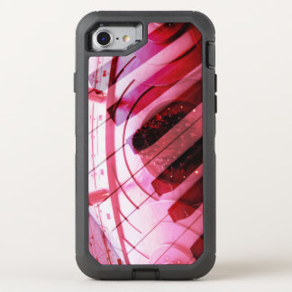Design piano pink one OtterBox defender iPhone 8/7 case
