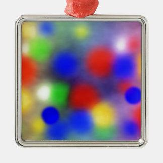 Design Silver-Colored Square Decoration