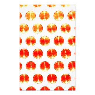 Design Simple round circle Style Fashion Orange Personalised Stationery