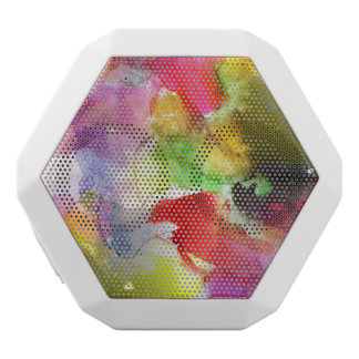 Design texture red, yellow watercolor white boombot rex bluetooth speaker