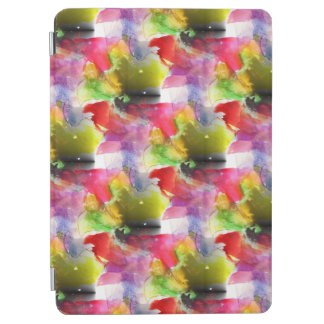 Design texture red, yellow watercolor iPad air cover