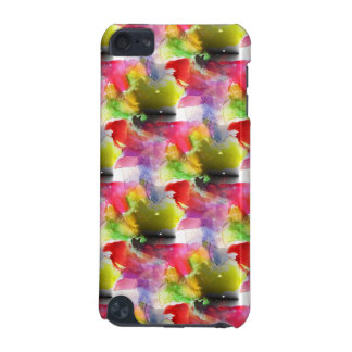 Design texture red, yellow watercolor iPod touch (5th generation) case