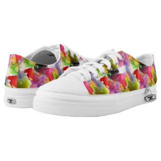 Design texture red, yellow watercolor low tops