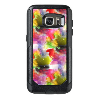 Design texture red, yellow watercolor OtterBox samsung galaxy s7 case