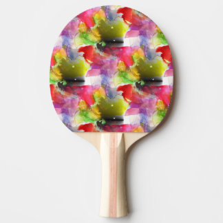 Design texture red, yellow watercolor ping pong paddle