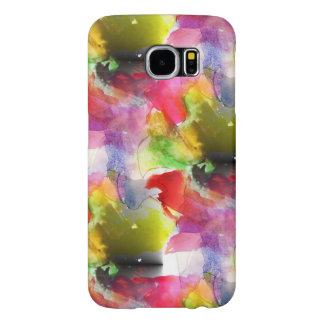 Design texture red, yellow watercolor samsung galaxy s6 cases