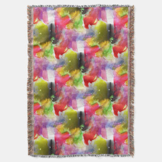 Design texture red, yellow watercolor throw blanket