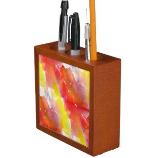 Design texture watercolor background desk organiser