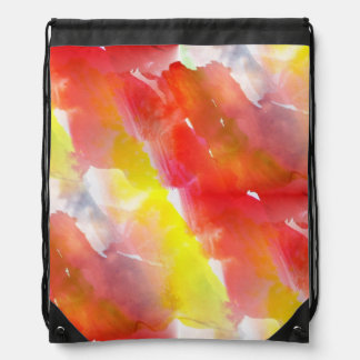Design texture watercolor background drawstring bag