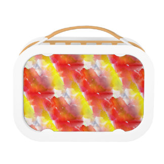 Design texture watercolor background lunch box