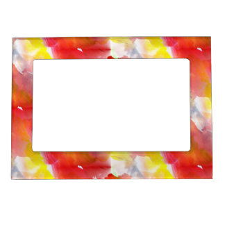 Design texture watercolor background magnetic picture frame
