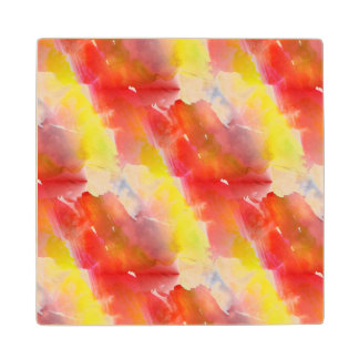 Design texture watercolor background wood coaster