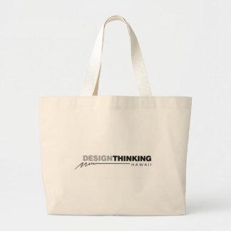 Design Thinking Hawaii Lightening Large Tote Bag