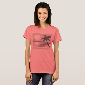 Design TSHIRT :  Pink losos with Palms