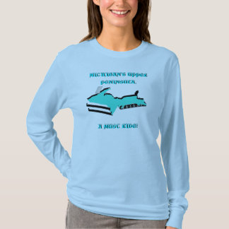 DESIGN UPPER MICHIGAN TRANSFORMED INTO SNOWMOBILE! T-Shirt