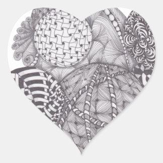 design Yarn Balls Heart Sticker