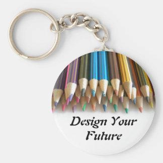 Design Your Future Basic Round Button Key Ring