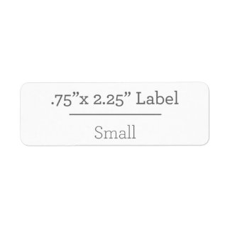 Design Your Own 8.5 X 11 Label Return Address Label