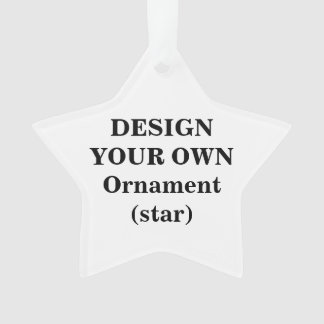 Design Your Own Acrylic Ornament (star)