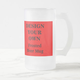 Design Your Own Beer Mug - Red and White