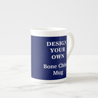Design Your Own Bone China Mug - Blue
