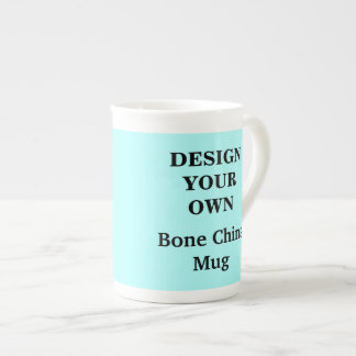 Design Your Own Bone China Mug - Light Blue