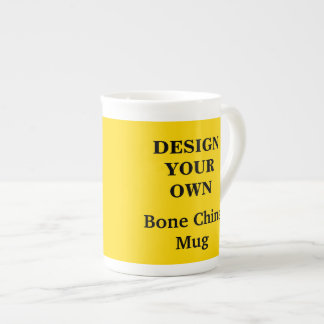 Design Your Own Bone China Mug - Yellow