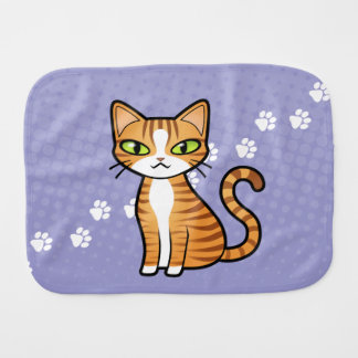 Design Your Own Cartoon Cat Burp Cloth