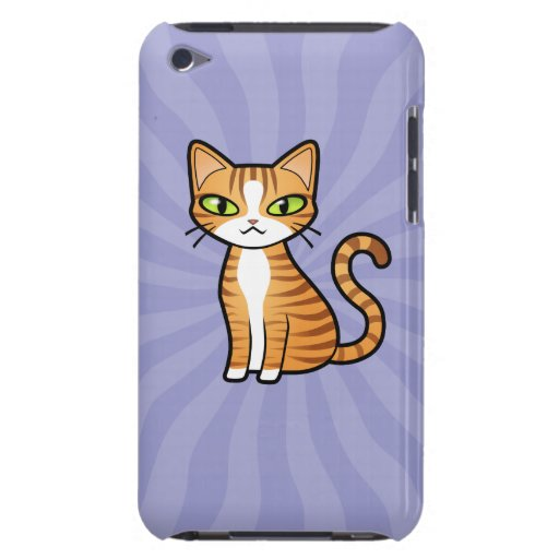 Design Your Own Cartoon Cat iPod Touch Cover