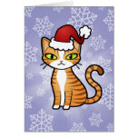 Design Your Own Cartoon Cat (Christmas) Greeting Card