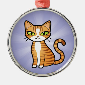Design Your Own Cartoon Cat Christmas Ornament