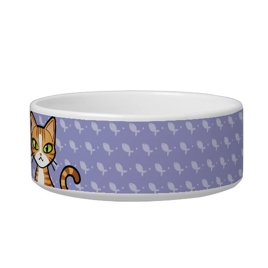 Design Your Own Cartoon Cat (customisable name) Bowl