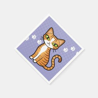 Design Your Own Cartoon Cat Disposable Serviettes