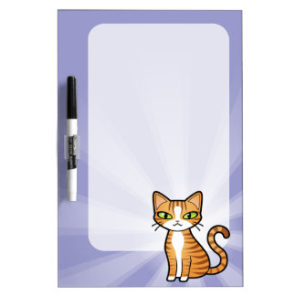 Design Your Own Cartoon Cat Dry Erase White Board
