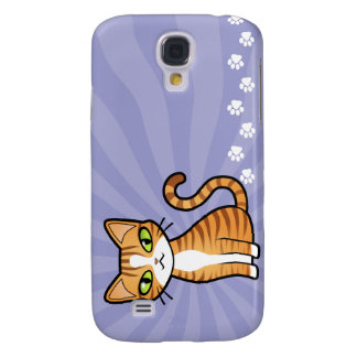 Design Your Own Cartoon Cat Galaxy S4 Case
