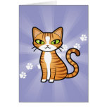 Design Your Own Cartoon Cat Greeting Card