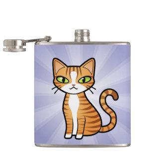 Design Your Own Cartoon Cat Hip Flask